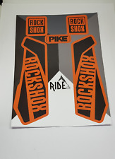 Rockshox Pike Decals and Stickers Stealthy Orange/Black, Enduro, DH