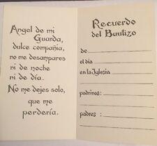 "Spanish Baptism Padrinos ""Recuerdo Del Bautizo"" Favor Cards from Italy,  100pcs"