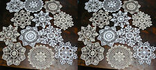 "Hand Crochet Doilies 7"" White & Natural Vintage Wedding Tea Party"