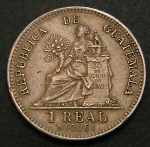 GUATEMALA 1 Real 1900 - Copper/Nickel - VF/XF - 436