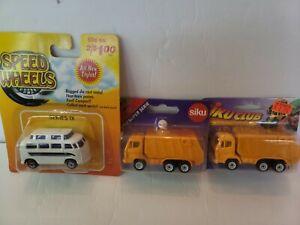 Siku super serie1:87 Mullwagen Refuse truck Camion poubelle Speed Wheels Lot 3