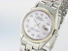 Rolex donna Oyster datejust acciaio inox automatico Diamond Watch
