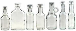 20m 40ml 50ml  leere Mini Glasflaschen Schnaps Flasche kleine Miniaturflaschen