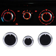 3Pc Air Condition A/C Switch Buttons Control Knobs Cover For VW Golf MK4 Passat