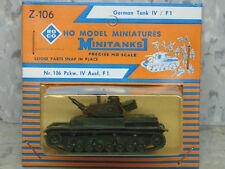 Roco Minitanks (New) WWII German Panzer IV / F1 Medium Battle Tank Lot #1761K