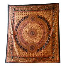 Tagesdecke Paisley rot 230 x 210 cm Baumwolle Indische Decke Deko