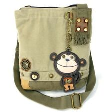 New Chala Patch Crossbody MONKEY Bag Canvas gift Messenger Sand Beige Small