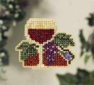 10% Off Mill Hill Counted X-stitch/Bead Spring Bouquet Kit - Wine Glass