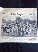 L1-9 Ephemera 1953 Slough Coronation Day Picture Fancy Dress Stoke Poges