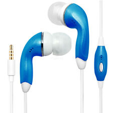 Blue Color 3.5mm Earphones Handsfree Remote Control with Mic. Stereo Headset