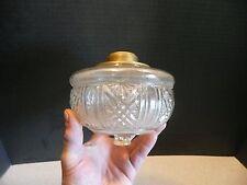 antique EAPG embossed glass composite kerosene oil lamp font part