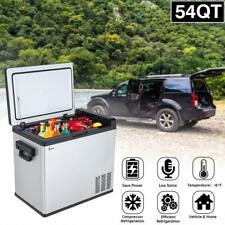54 Qt Portable Fridge Freezer 24/12V Car Refrigerator Cooler Electric Cool
