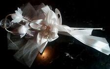 SEGNAPOSTO SACCHETTO Bouquet+ 3 Confetti BOMBONIERA MATRIMONIO COMUNIONE CRESIMA