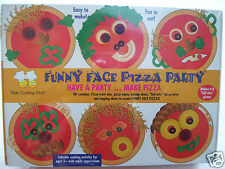 Kids cooking kits funny face pizza party New Sealed but out dated Not Eatable
