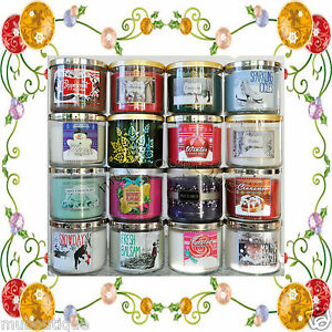 BATH & BODY WORKS HOME WHITE BARN AUTUMN FALL WINTER HOLIDAYS 3 WICK CANDLE NEW