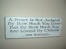 shabby & vintage chic plaque wizard quote wizard of oz plaque sign a heart...