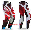 CLEARANCE Fly Racing Lite Hydrogen PANTS Red-White Adult Motocross ATV MX 30