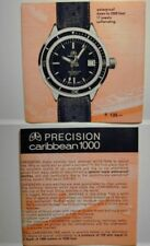 Jenny Caribbean vintage dive watch 702 Swiss Tropic 18mm band curved ends 9 sold