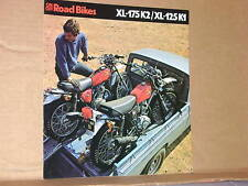 1975 Honda XL175K2 / XL125K1 Sales Brochure / Poster - Literature