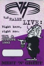 VAN HALEN 1993 UK & Europe Backstage Pass Meet, Purple