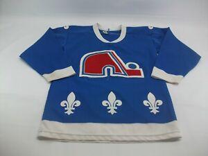 Quebec Nordiques Vintage Youth Boy XL CCM Blue Hockey Jersey