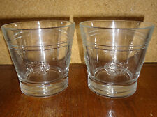 Pair of Embossed Crown Glasses - Made in Italy Barware Mancave Decor