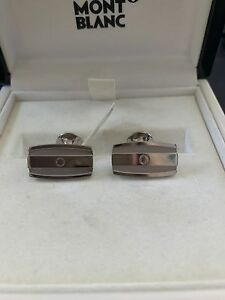 Montblanc: Cufflinks, White Gold - Cuff Links, 105865