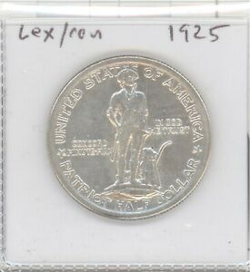 1925 Lexington & Concord Silver Commemorative Half Dollar 50c AU/BU