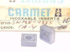 NEW SURPLUS 10PCS. CARMET  SNMG 433C  GRADE: CA4  CARBIDE INSERTS
