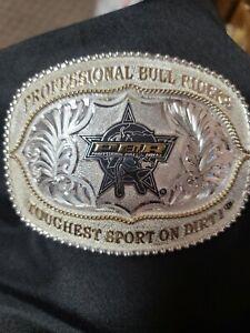 Jeffrey Scott Western Belt Buckle Professional Bull Riders Toughest Sport onDirt