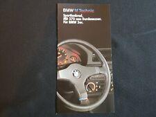 1986 BMW M Technik Motorsport Sportlenkrad 3er BMW Prospekt Brochure