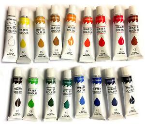 17 PC WATERCOLOR Paint Set Professional Artist Painting Pigment Tubes 12ml