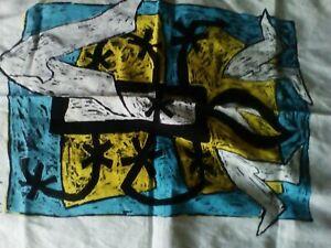 Vintage Tea towel Linen (?) Amnesty Design...