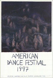 JENNIFER BARTLETT American Dance Festival 1997 SIGNED 36.5 x 24.75 Offset Lithog