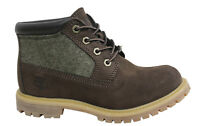 Timberland AF Nellie Lace Up Brown Womens Nubuck Leather Boots A12BI D5