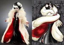 Disney Designer Collection Villains Cruella De Vil Doll NEW NRFB COA & BAG