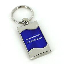 Dodge Durango Blue Spun Brushed Metal Key Ring