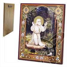 Ikone Seraphim von Sarow Holz 20 x 24 икона Серафим Саровский ikona
