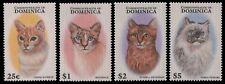 Dominica 1997 - Mi-Nr. 2294-2297 ** - MNH - Katzen / Cats