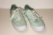 Vans 721356 Sneakers Mint Seafoam Green Shoes Floral Print Women Size 7.5 US