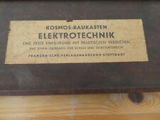 Kosmos Baukasten ELEKTROTECHNIK im Holzkasten  30 er Jahre