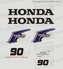 Adesivi motore marino fuoribordo Honda 90 cv four stroke gommone barca stickers