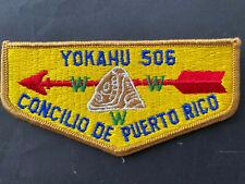 Puerto Rico 1970s, BOY SCOUTS FLAPS CONCILIO DE PR LOGIA YOKAHU 506
