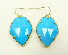 KENDRA SCOTT Corley Gold Plated Blue Faceted Howlite Dangle Earrings