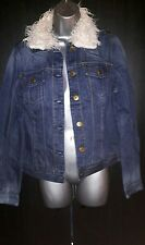 La Redoute Denim Jacket Size 16 Creation/Activewear/Stone/Wash/White/Collar/NEW