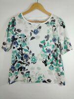 CROFT & BARROW Womens XL Multicolor Floral Print Short Sleeve Knit T-Shirt