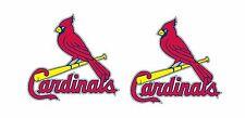 Pair (2) St Louis Cardinals Cornhole Board size decals/stickers Baseball 10.5x11