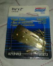 NATIONAL/SPECTRUM BRANDS HHI N213-413 Brass Hanger Plate, 4-Pack