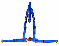 Securon Race & Rally 3 Point Harness With Snap Hooks in Blue 605/BLUE