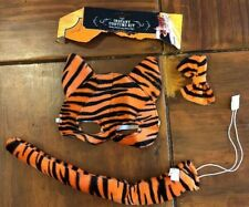 Tiger Instant Costume Kit ( Face Mask,Neck Bow, and Tail ) Velcro /Elastic